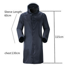 New Adults Womens Mens Waterproof Raincoat Long Trench Unisex Rain Coat Jacket