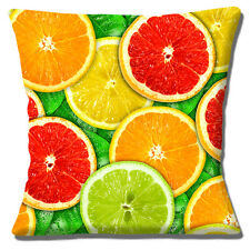Novedad Fresco Rodajas Fruta Limón Naranja Lima Foto 40.6cmx40.6cm 40cm Funda de