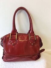 PAUL SMITH RED LEATHER SHOULDER BAG