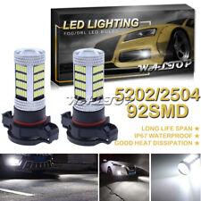 92SMD 5202 LED Projector Fog Light Bulb for GMC Sierra 1500 08-15 Xenon White 6K