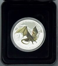 Dragons of Legend 1 oz. Silver Proof Coin: 2013 European Green Box/COA FREE S/H