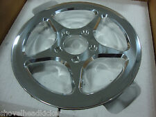 "2008 BIG DOG MUTT POLISHED REAR DRIVE PULLEY TEFLON COATED 65 TOOTH 1 1/8"" BELT"