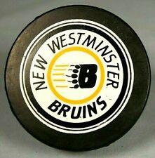 New Westminster Bruins Qmjhl Lhjmq Whl Hockey Puck Chl Rare! New! Nhl