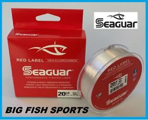 SEAGUAR RED LABEL Fluorocarbon Fishing Line 20lb/175yd 20 RM 175 FREE USA SHIP!