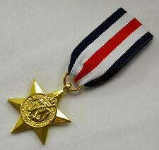 24ct Gold World War 2 Replica Service/Campaign Medal FRANCE AND GERMANY STAR WW2