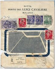 64192 - ITALIA : RSI  - STORIA POSTALE:  Busta RACCOMANDATA da COMO 1945