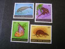 PAPUA NEW GUINEA, SCOTT # 525-528(4),COMPLETE SET 1980 WILDLIFE  ISSUE MNH