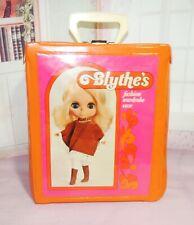 1972 Vintage Blythe Doll Wardrobe Case Bright Colors Clean Excellent Condition