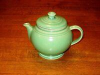 Vintage Art Pottery Green USA Teapot Cameron Clay