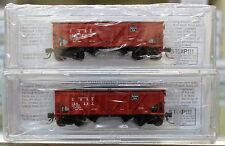 N Scale BLUFORD SHOPS 63022 CB&Q - BURLINGTON 2-Bay War Emergency Hoppers 2-PACK