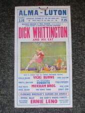 DICK WHITTINGTON ALMA THEATRE LUTON VINTAGE 1940s XMAS PANTOMIME BEDFORDSHIRE*