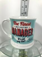 History and Heraldry H&H Coffee Shaving Mug~The Finest Manager~Vintage Style Cup