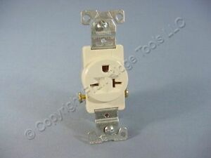 New Cooper Light Almond COMMERCIAL Single Outlet Receptacle 6-20 250V 20A 1876LA