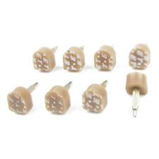 8 Pcs Tan Plastic Shoes High Heel Tips Taps 11mm x 10mm for Ladies WS I9J8 D2L3