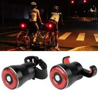 Smart Bike Tail LED Light Ultra Bright Light Rechargeable Auto On/Off Waterproof