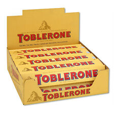 FULL BOX 20pcs TOBLERONE Swiss Milk Chocolate Bar w/ Honey & Almond Nougat 50g