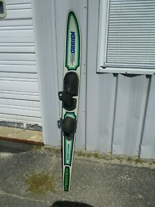 """VINTAGE O'BRIEN HONEYCOMB SLALOM WATERSKI 65"""" ~ HARDLY EVER USED!!! MADE IN USA"""