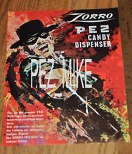 Pez Walt Disney Zorro German Advertising Sheet - Original