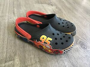 Crocs youth 13 lightning mcqueen slip on clogs sandals