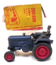 very rare German LANZ BULLDOG DIESEL Tractor promo toy by Rex? boxed