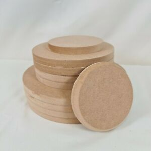 MDF Circles, 100mm, 150mm, 200mm, Circle, Multi Thickness, Craft Blanks, Disk