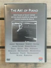 The Art of Piano Great Pianists of the 20th Century (Dvd, 2002)