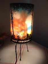 Vintage 1955 Davy Crockett Heat Motion Lamp ULTRA RARE in Excellent Cond