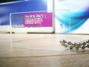 Acrylglas XT klar transparent Zuschnitt Plexiglas® Deglas® QM 27-123 EUR