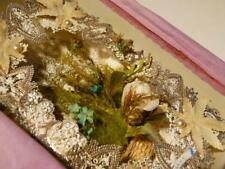 More details for stunning antique 1875 silk paper lace baby love sweetheart card #5
