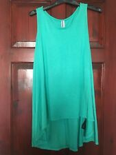 Forever 21 High Low Top- Turqoise Green In Size Large