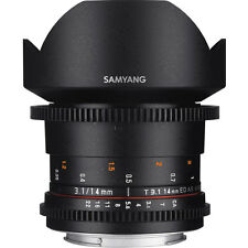 Samyang 14mm T3.1 VDSLR ED AS IF UMC II Lens in Canon Fit