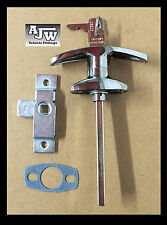 Chrome T Handle + Small Budget lock Door Latch Catering Trailers Horsebox Coach