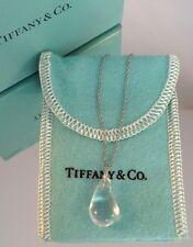 Authentic Tiffany & Co Peretti Rock Crystal Teardrop Platinum Necklace Custom!