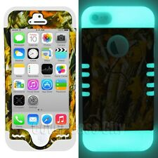Oak Tree Branch Camouflage w/ Glow in the Dark Cover for Apple iPhone 5 5S Case
