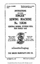 1934 Singer No. 15K88 Sewing Machine Use Attachments Maintainence DIY How-to 30s
