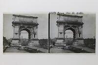 Roma Arco Di Titus Italia Foto Placca P9T5n12 Vintage Stereo
