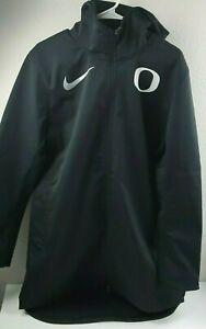 Nike Shield Oregon Ducks Long Soft Shell Hooded Parka Jacket Men's Large Black