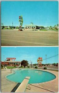 Murfreesboro, Tenn. Postcard STONES RIVER MOTEL Restaurant Rte 41 Roadside 1960s