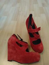 """Office Women's Suede Wedge Very High Heel (greater than 4.5"""") Shoes"""