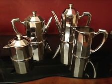 CHRISTOFLE TEA/COFFEE SET ART DECO STYLE SILVERPLATED **VERY RARE*** 1900-1940