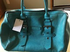 NWT $1215 Longchamp Kate Moss Blue Leather Duffel Handbag
