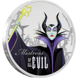 2018 Niue New Zealand Maleficent 1 oz .999 Silver Coin Proof