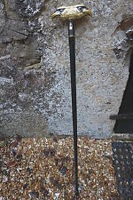 H6013   CANNE CLASSIQUE   POMMEAU  DEUX  TETE  D  AIGLE    HEROIC FANTASY