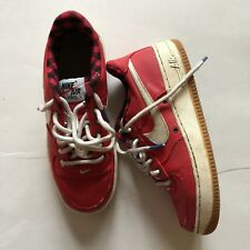 Nike Air Force 1 Low Red With Red Plaid Lining - Size 4 Youth