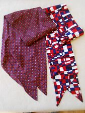 2 Vintage Patriotic Scarves ( 668 )