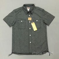 Bob Dong Vintage Salt & Pepper Gray Shirts Summer Men's Short Sleeve Tee Shirt