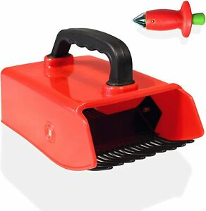Plastic Berry Picker and Collector Rake with Soft Touch Ergonomic Handle