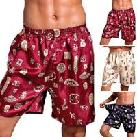 Sizes Mens Pajama Shorts Home Sleepwear Wide Leg Pants Casual Nightgown Bottoms