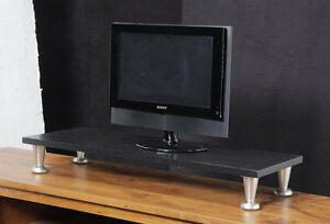 Oak TV Riser Stand Ergonomic TV/ Laptop Stand Industrial Made in the USA