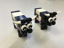 Lego 2x Kühe, Kuh, Tier, animal, Bauernhof Lego City Stadt System Eigenbau